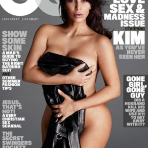 """Kim Kardashian West dominated GQ's 10th anniversary """"Love, Sex, and Madness issue"""" cover in June."""
