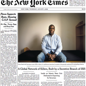 Harry Sarfo was featured prominently on the Aug. 4 edition of the New York Times.