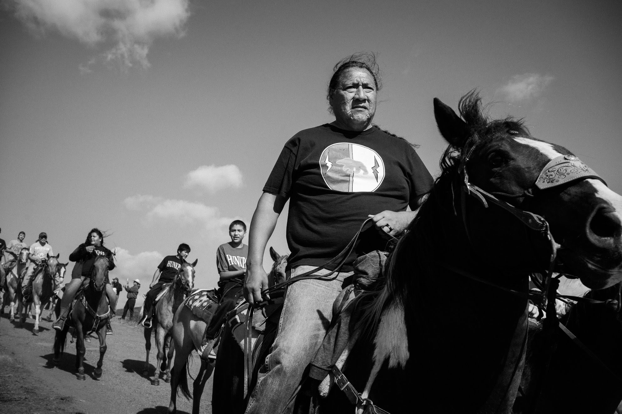 """The result of Annabelle Marcovici's photos at the Standing Rock encampment """"is a portrait of everyday life under extraordinary circumstances, behind the public rallies and ceremonies. . . . ."""" (Credit: Annabelle Marcovici)"""