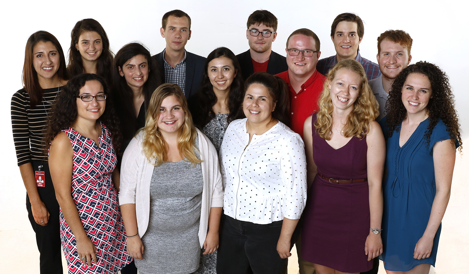 This year's college and high school summer interns at the Dallas Morning News. (Credit: David Woo/Dallas Morning News)