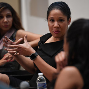 Kara Lawson at Morgan State symposium. (Credit: Brent Lewis/the Undefeated)